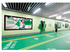 雪碧深圳地铁主题站厅广告