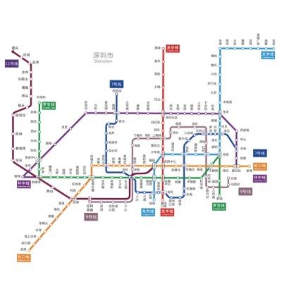 深圳地铁5号线的客运量已经上升到全国第20位