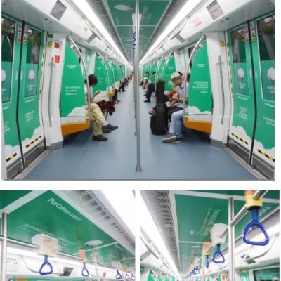 深圳地铁创意包车:隧道中的风景