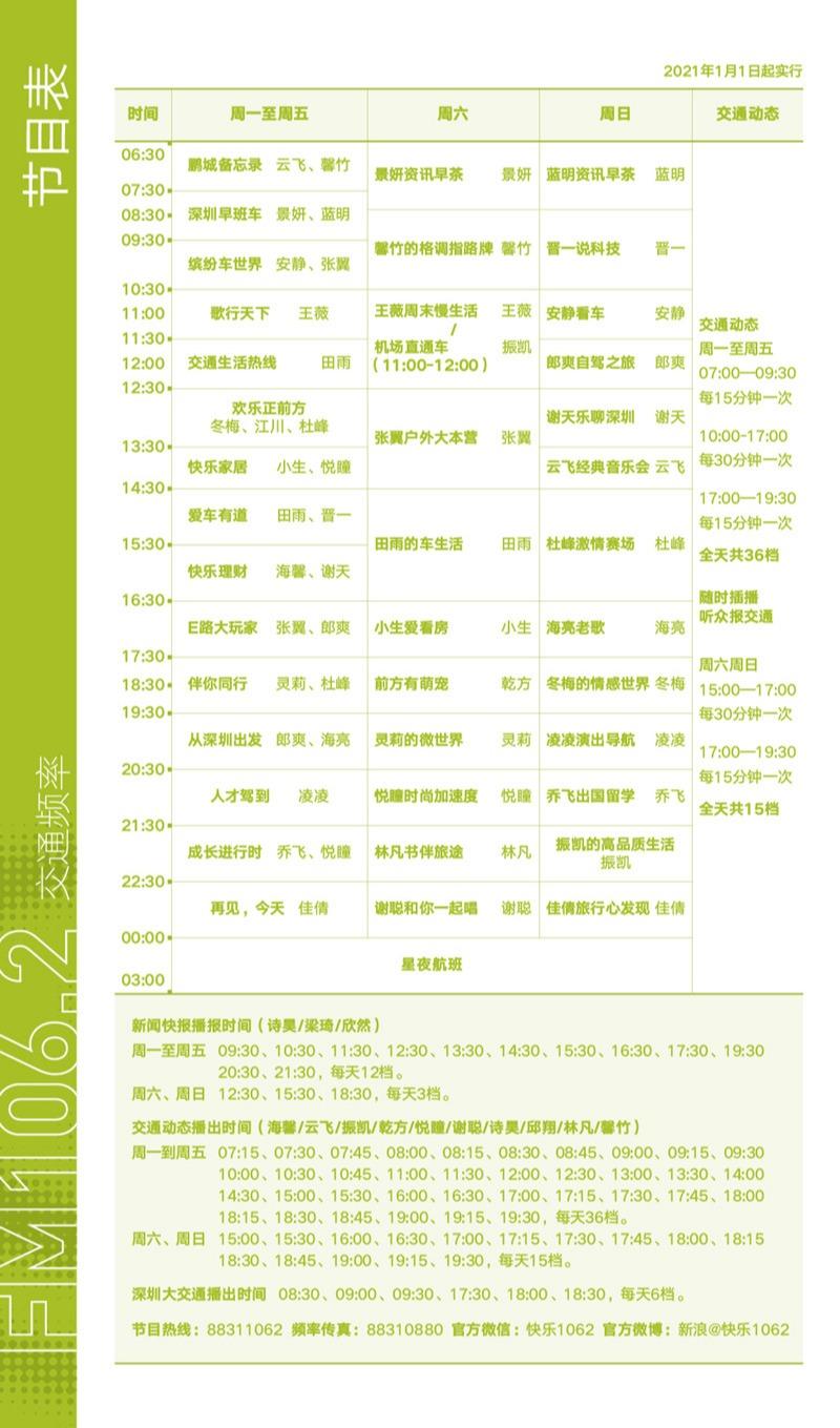 1062节目表